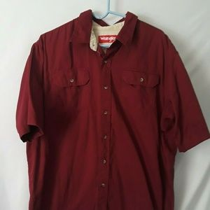 Wrangler Short Sleeve Front Pockets Button Down XL